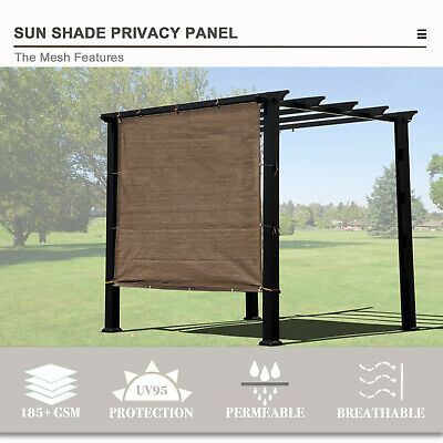 Alion Home© Shade & Privacy Patio Panels 90%UV Block Breathable Mesh 2 Side Hems