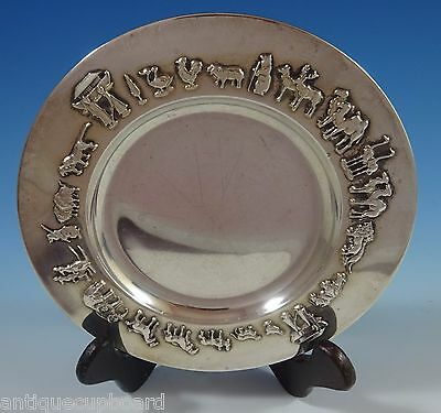 Gorham Sterling Silver Child'S Plate with Noah'S Ark / Animals (#1185)