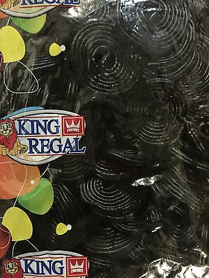 King Regal Licorice Wheels 1Kg Black Lollies Buffet Party