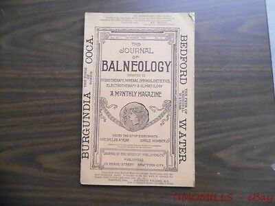 1893 Journal of Balneology Hydropathy Mineral Water Quack Magazine December