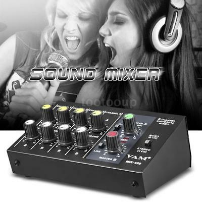 Ultra-compact Low Noise 8 Channels Metal Mono Stereo Audio Sound Mixer C3W1
