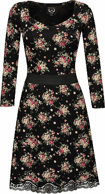 Vive Maria TRUE LOVE Floral Vintage Blumen Retro KLEID Dress Rockabilly
