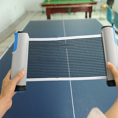 Grey New Games Retractable Table Tennis Ping Pong Portable Net Kit Replacement