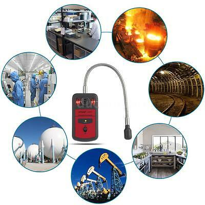 Portable LCD Combustible Gas Detector Leak Location Determine Tester Alarm C2X2