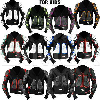 Kids /Child Motorcycle Protector Guard Jacket Motorbike Spine Body Armour