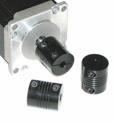 "1/4 flex SHAFT COUPLING CNC .25"" Servo Stepper motor 6.35mm coupler black"