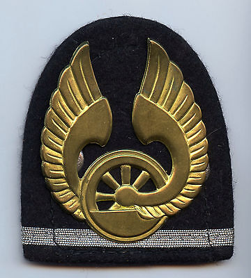 Finland Railroad Railway Cap Badge Nice Grade !!