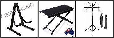 Guitar Stand + Music Stand + Guitarists Footstool NEW