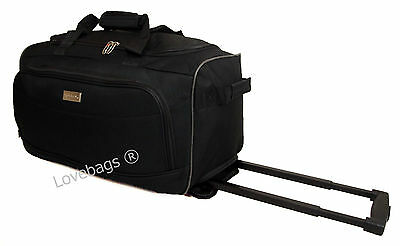 """20"""" Wheeled Holdall Travel Hand Luggage Cabin Bag Suitcase Maternity Trolley"""