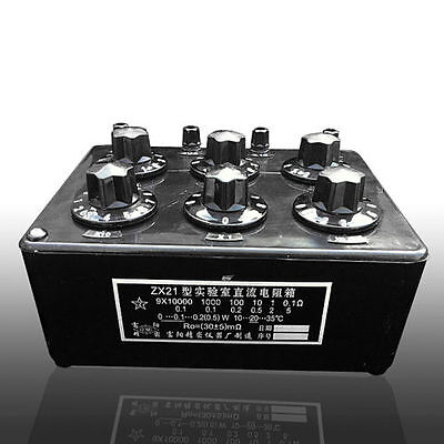 NEW Variable Decade Resistor Resistance Box DC Resistance Box 0~99.9999 kΩ ZX21
