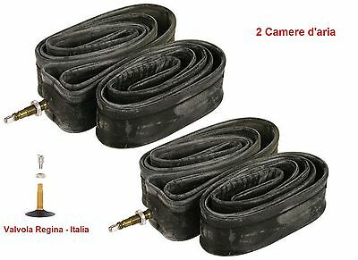 "2 Camera d'aria 26x1,75/2,10 valvola Italia per bici MTB 26"" Mountain Bike"