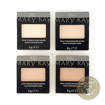 Mary Kay Sheer Mineral Pressed Powder Ivory 1, Ivory 2, Beige 1, Beige 2, FRESH!