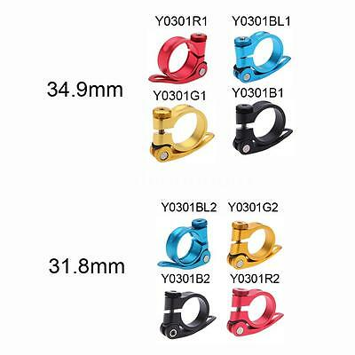 New Mtb Bicycle Quick Release Seat Post Clamp Tube Clip Aluminium Alloy N6J1