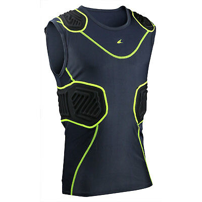 New Champro Bull Rush Football Lacrosse Youth Padded No Sleeve Compression Shirt