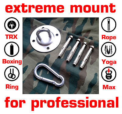 Suspension Trainer Ceiling Wall Mount Anchor Trx Boxing Gym Ring Yoga