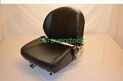 Universal Forklift Seat With Seat Belt Vinyl Free Shipping