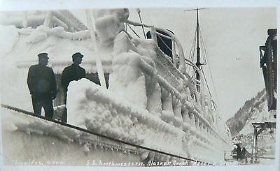 Postcard-Ss Northwestern Launched 1889.after A Storm On The Alaskan Coast