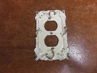 Vintage Brass French Provincial Hollywood Regency Plug  Outlet  Plate