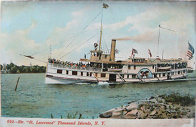 Vintage Postcard.ss St.lawrence.thousand Islands N.y.undivided Back.early Card
