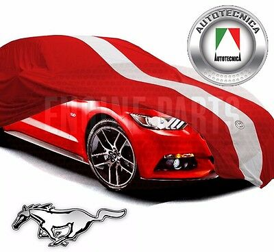 Show Car Cover Racing Stripes Red Indoor 2015 2016 2017 Ford Mustang