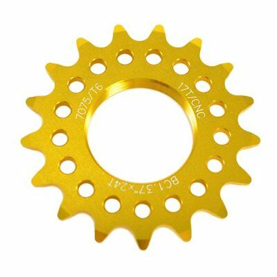 White Taiwan Made 16T Tooth 7075 Alloy Fixie Fixed Gear Track Cog