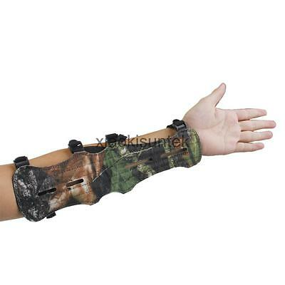 Professional Camouflage Shooting Archery Arm Guard Protector Safe 4 Straps