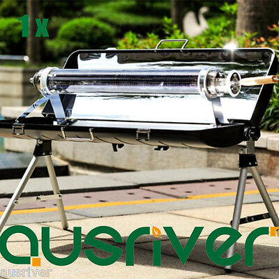 New Portable Stove Solar Cooker Oven Fuel Free Cooking Camping Outdoor BBQ Grill