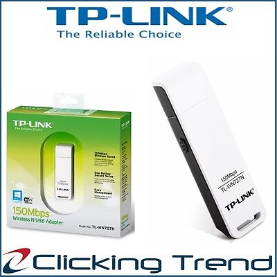 Wireless USB Adapter TP-Link 150 Mbps Speed Computer PC WiFi Dongle TL-WN727N