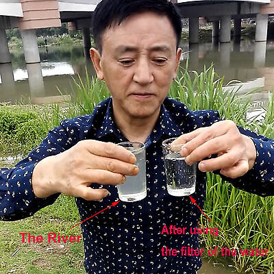 PORTABLE Personal WATER FILTER Purification Purifier Survival Gear