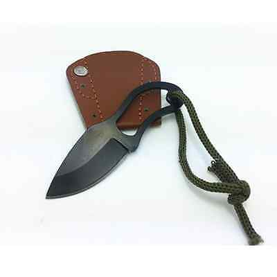 Steel Outdoor Emergency Survival Rescue Blade Small Fishing Knife With Sheath US