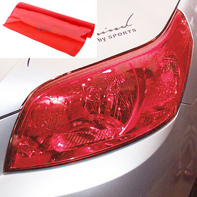 "12"" x  48""  RED Chameleon DIY Neo Light Vinyl Fog Taillight Headlight Tint"