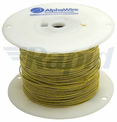 Alpha Wire 3051 YL001 UL1007 Hook Up Wire Yellow 22AWG (305m Reel)
