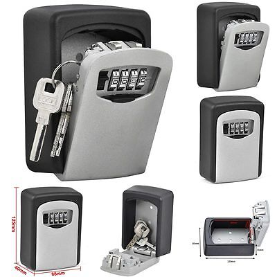 Wall Mount Key Box Home Security Custom 4 Digit Combination Lock Safe Storage