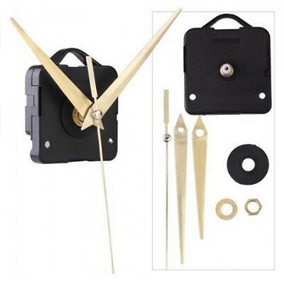 Quartz Clock Movement Mechanism Module Silent DIY Hand make Tools NEW KITs Black