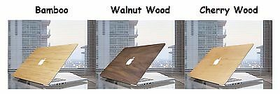 "Ultra Slim Light Weight Wooden Sticker Cover for Macbook 11"" 12"" 13"" 15"""