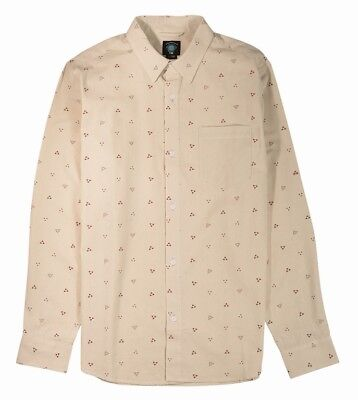 Fourstar Calico Men's long-sleeved Cream Shirt - Large