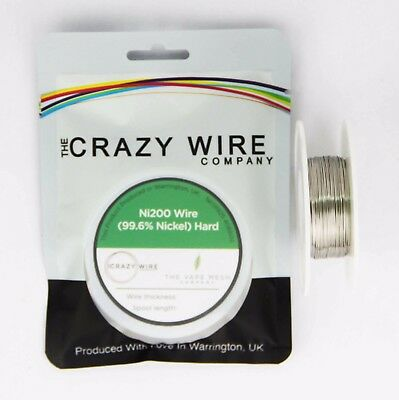 0.5mm (24 AWG) Comp Ni200 (Hardened 99.6% Nickel) Wire - 0.49 ohms/m