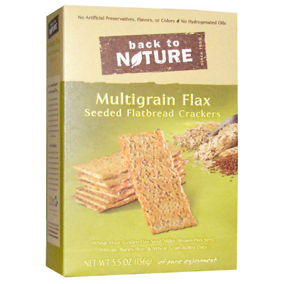 New Back To Nature Multigrain Flaz Seeded Flatbread Crakers Food Snack Groceries