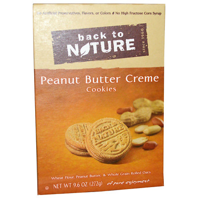 New Back To Nature Peanut Butter Cookies Healthy Daily Body Care Food Snack