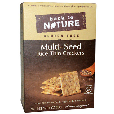 New Back To Nature Gluten Free Multi Seed Rice Thin Crackers Food Grocerie Snack • AUD 23.50
