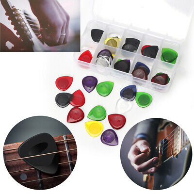 40X Electric Guitar Pic Acoustic Music Pick Plectrum Assorted Thickness w/ Case
