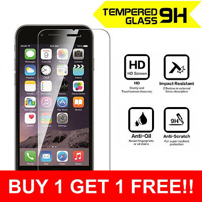 100% Genuine Anti Shock Tempered Glass Screen Protector for iPhone 5 5c 5s SE