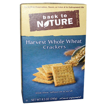 New Back To Nature Harvest Whole Wheat Crackers Food Groceries Snack Nutrition