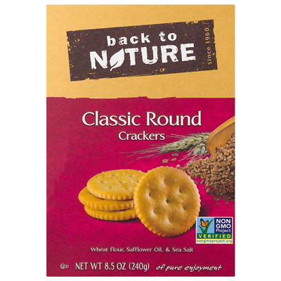 New Back To Nature Classic Round Crackers Food Groceries Snack Nutrition Wheat