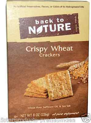 New Back To Nature Crispy Wheat Crackers Food Groceries Snack Nutrition Crunch