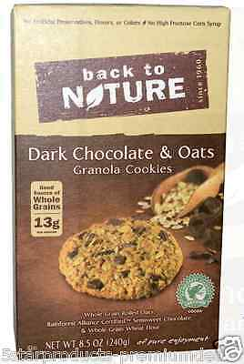 New Back To Nature Dark Chocolate & Oat Granola Cookies Food Groceries Snack