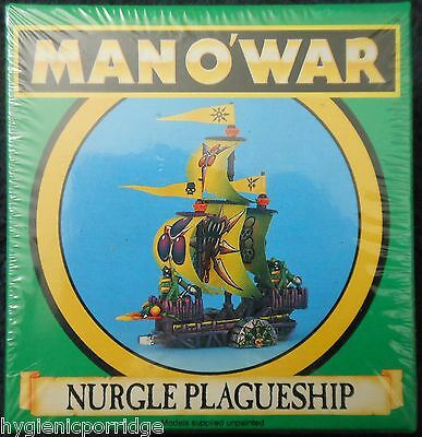 1993 Man O' War Chaos Nurgle Plagueship Games Workshop MOW Ship Fleet Galley GW