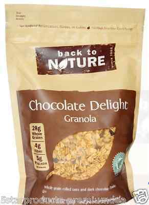 New Back To Nature Chocolate Delight Granola Fiber Protein Snack Food Groceries
