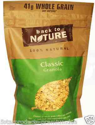 New Back To Nature Natural Classic Granola Whole Grain Dietary Fiber Vitamin C