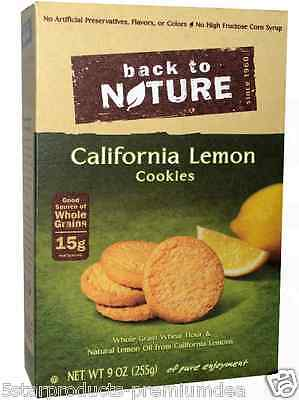 New Back To Nature California Lemon Cookies Whole Grain Invigortaing Snacks Food